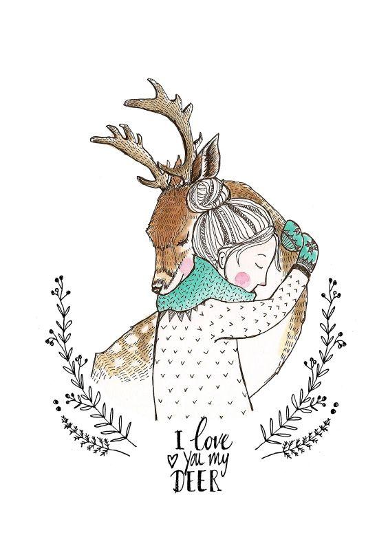 Marieke ten Berge 'Kaart Love You My Deer'   Petite Louise