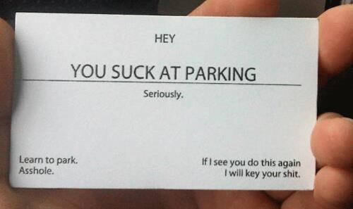 Wish I had a stack of these in the car...: Laughing, Business Cards, Idea, Hands, Cars, Parks Cards, Funny Stuff, So Funny, People