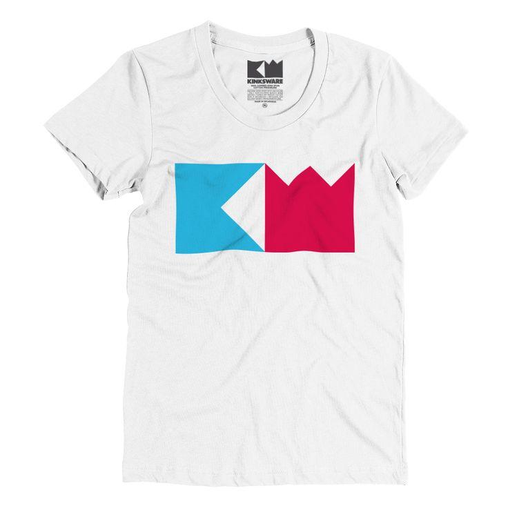 KW Logo Ladies Ringspun Fashion Fit-T-Shirt (White) – Kinksware