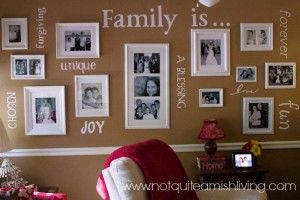 My DIY husbandand I have discovered the art of repurposing and recreating to express beauty and creativity in our home. Last month I gave you some tips on using pallet shelves as home decor. This month I wanted to give you some ideas for incorporating family values in the way you decorate. Our
