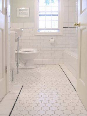 like the floor with or without the black pencil trim. Do the black trim in the shower