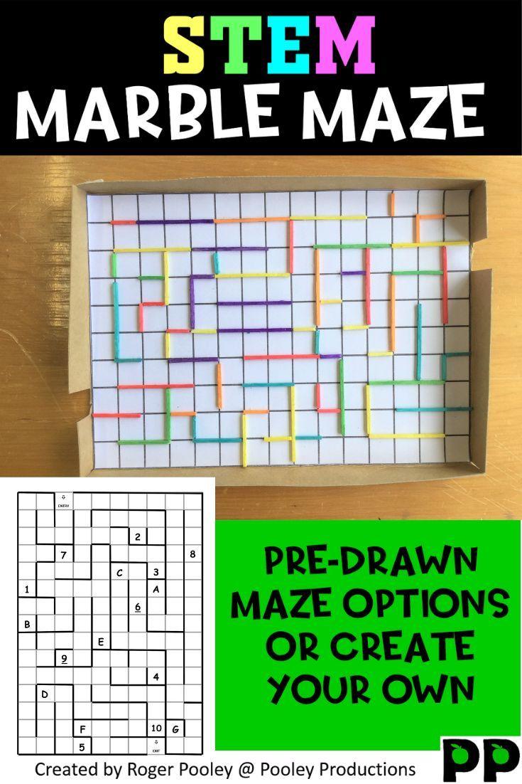 Stem Marble Maze Activity Stem Elementary Stem Activities Science Lessons