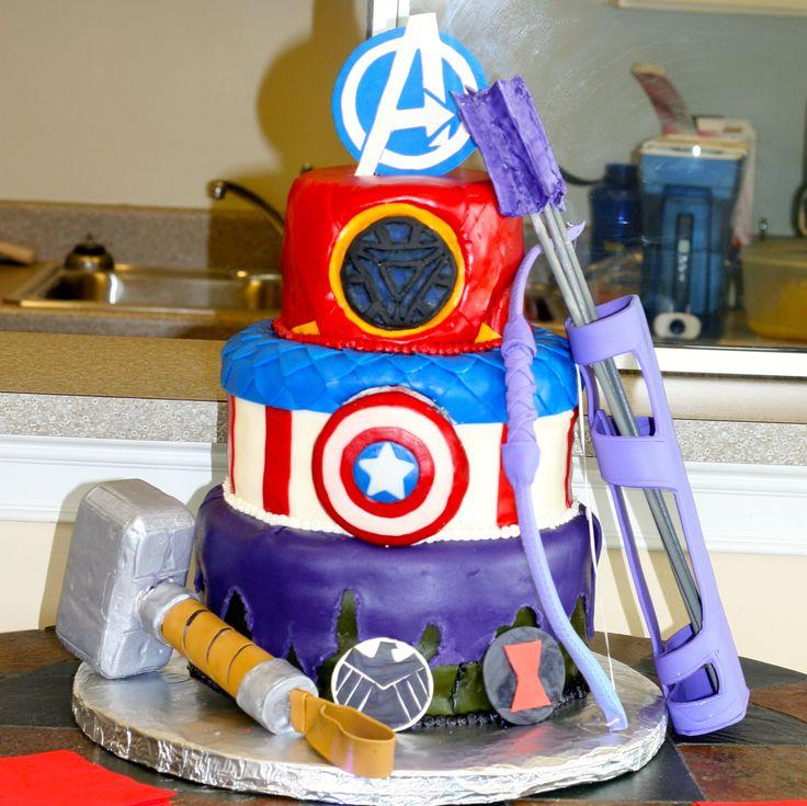 Captain America And Iron Man Birthday Cake