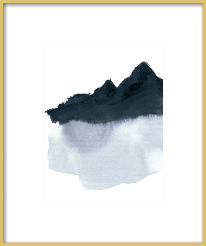 Mountain scape minimal by iris lehnhardt artfully walls