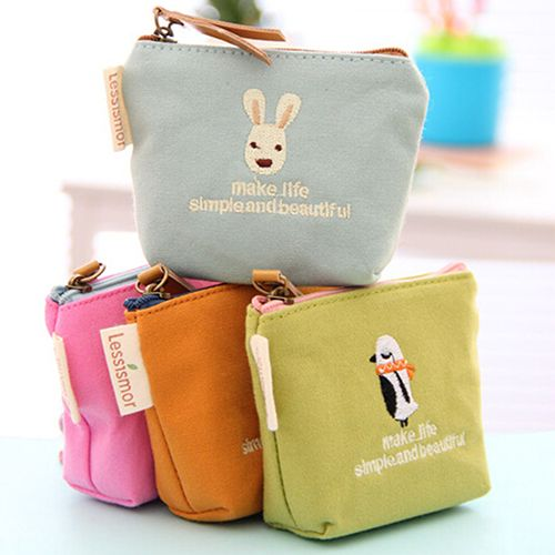 2016 Cute Rabbit Pattern Mini Coin Purse Handbag Canvas Pouch Wallet Money Bag Case  8OMM #>=#>=#>=#>=#> Click on the pin to check out discount price, color, size, shipping, etc. Save and like it!
