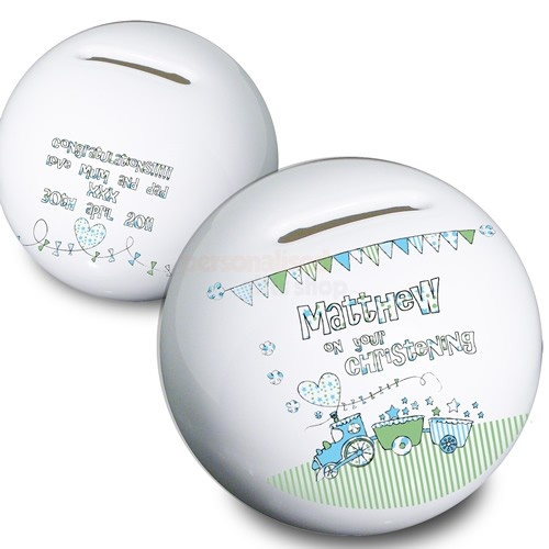 Personalised Money Box - Train Design - Any Occasion  from Personalised Gifts Shop - ONLY £14.95