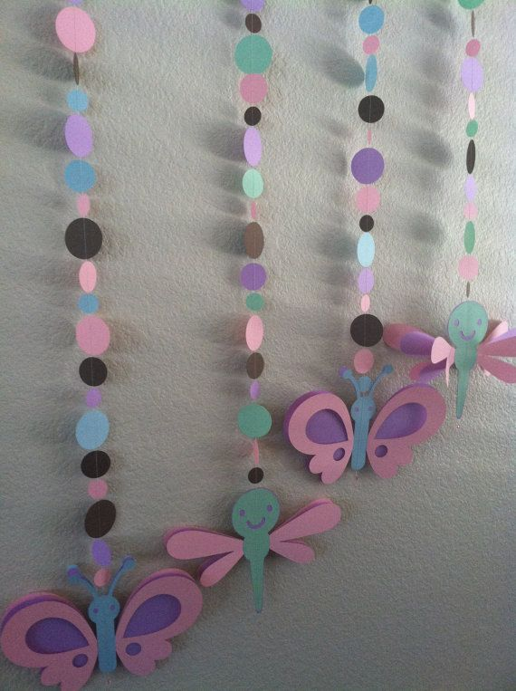 Baby girl baby shower decorations butterfly ad dragonfly for Baby shower butterfly decoration ideas