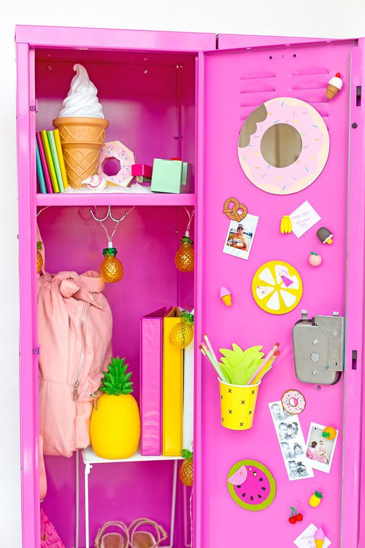 Colorful DIY Locker Decoration Ideas