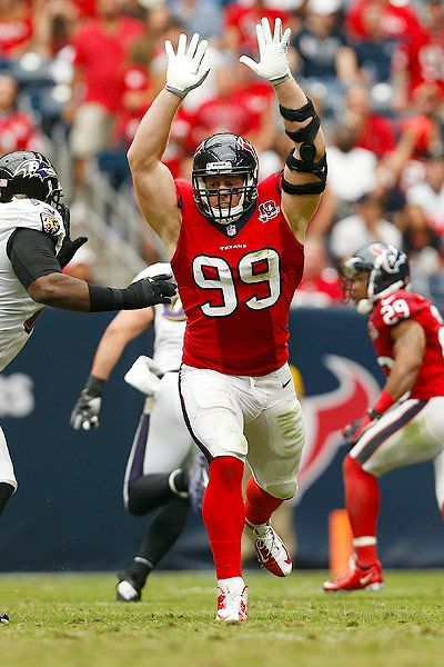 J.J. Watt, Houston Texans..watch out for this guy, shows no mercy! Will play dirty if he has to.