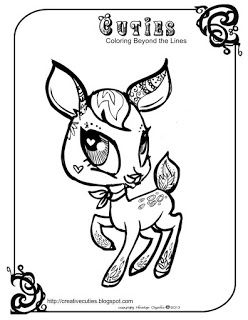 Quirky Artist Loft Cuties Free Animal Coloring Pages Printables
