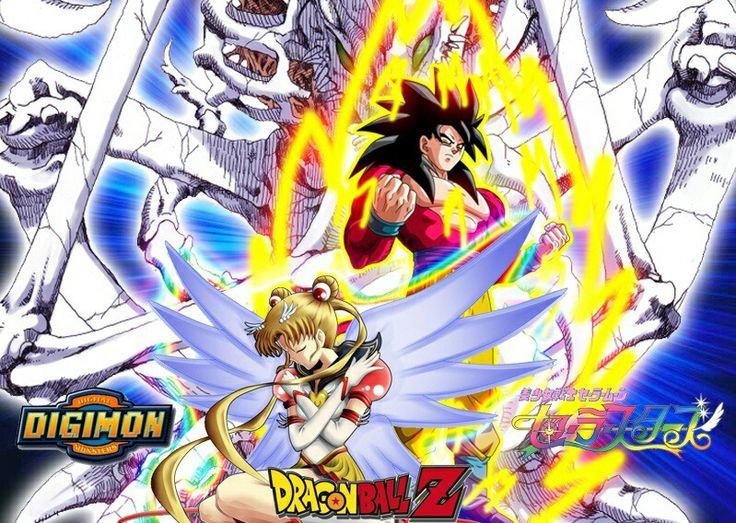 Los tres mejores anime  #dragonball #anime #akibakei #dragonballz #SailorMoon #Digimon