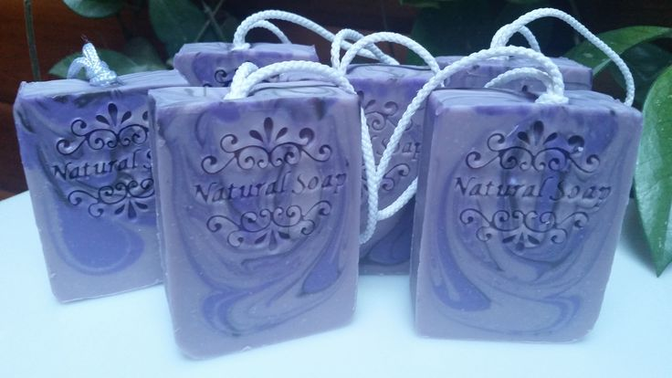 Lavender Soap on the Rope made with fresh goats milk, hand crafted by D'Lish Soaps, Quadra Island, BC