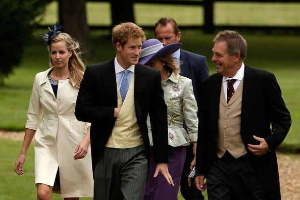 Prince Harry - Lady Laura Marsham Marries James Meade At Gayton Hall