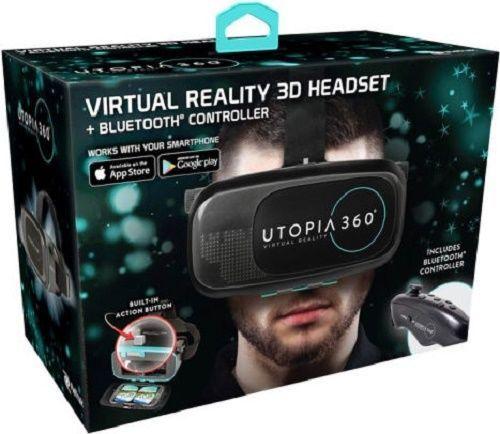 VIRTUAL REALITY HEADSET BLUETOOTH HEADPHONES 3D SMARTPHONE 360° SENSORY SIMULATE #ReTrak