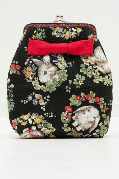 PIXCA miss rabbit pouchess