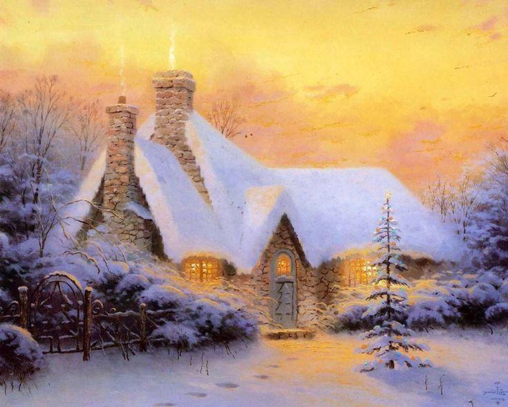 Зима. Томас Кинкейд. Холода и Чай.   блог дорис ершовой