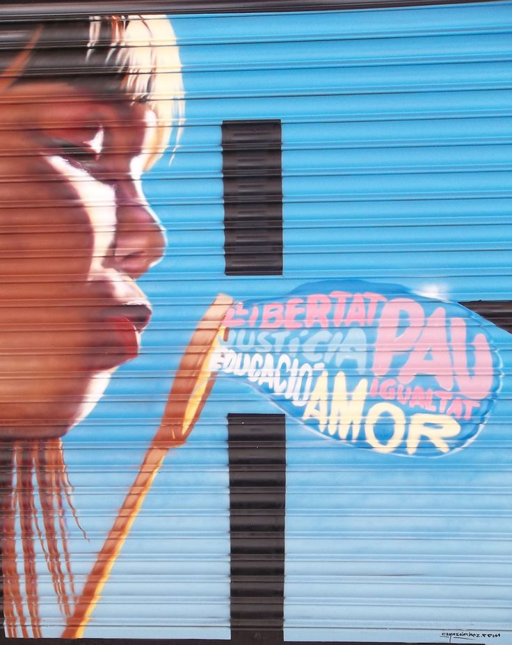 Weekend in Barcelona 2-4 August 2013 - Streetart on Market Doors