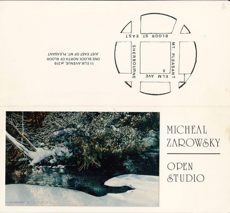 zarowsky watercolours from eramosa river 1988 at elm avenue studio