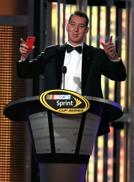 Kyle Busch Photos Photos - NASCAR Sprint Cup Series driver Kyle Busch speaks during the 2016 NASCAR Sprint Cup Series Awards show at Wynn Las Vegas on December 2, 2016 in Las Vegas, Nevada. - NASCAR Sprint Cup Series Awards - Show
