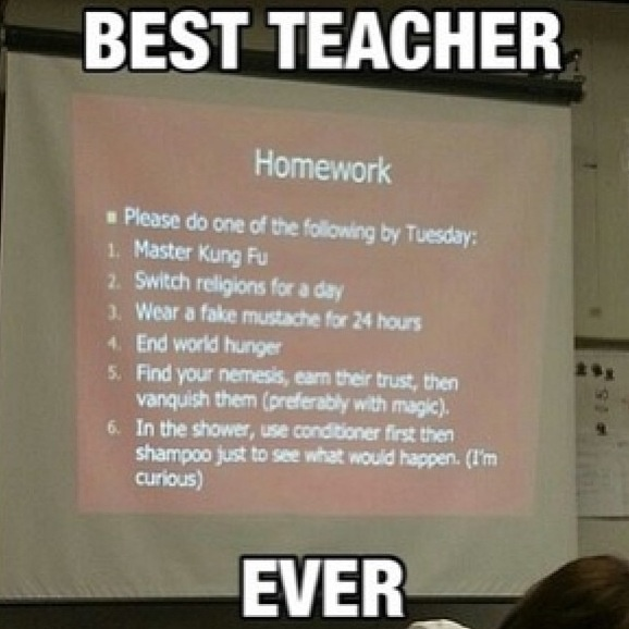 Omg... Wish I had a teacher like this when I was growing up :)