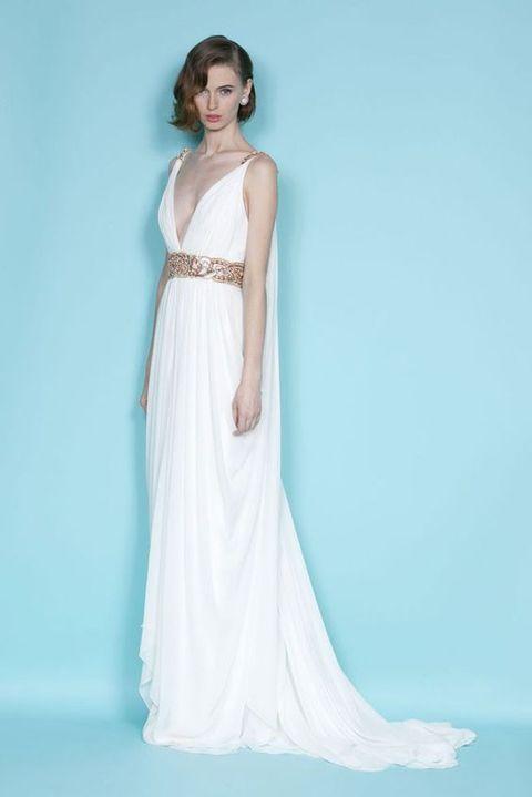 Best 25 grecian wedding dresses ideas on pinterest grecian choose a grecian styled wedding gown flowing junglespirit Image collections