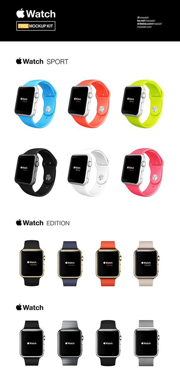 Apple Watch Free Mockups Kit on Behance
