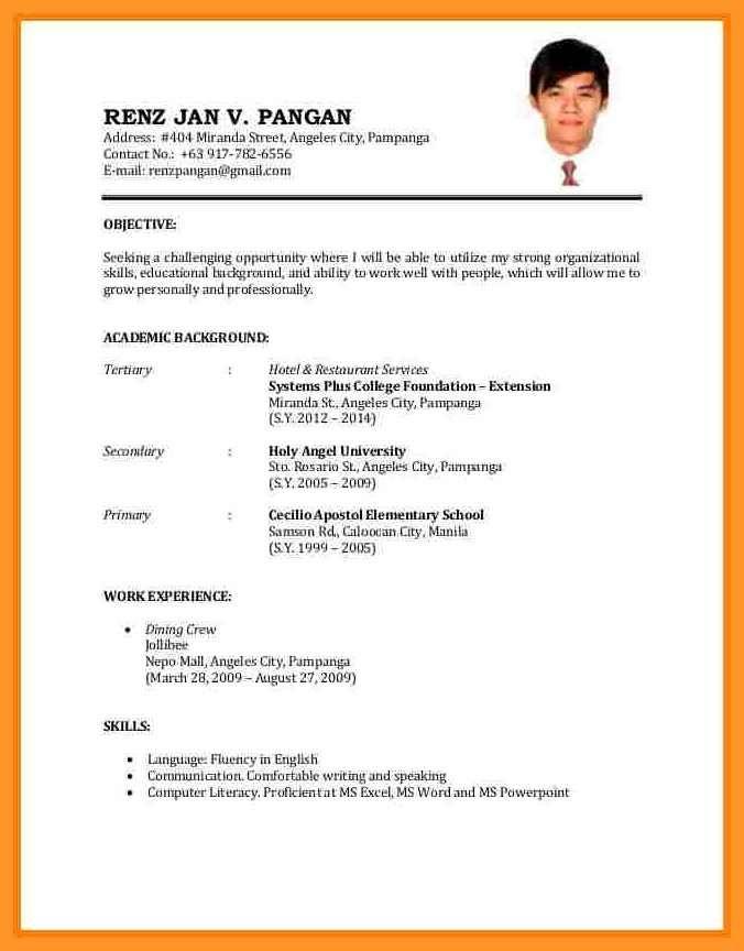Resume Format Sample Job Application Resume Sample Vintage Resume Sample Format For Job Application 9 In 2021 Resume Pdf Sample Resume Cover Letter Job Resume Examples