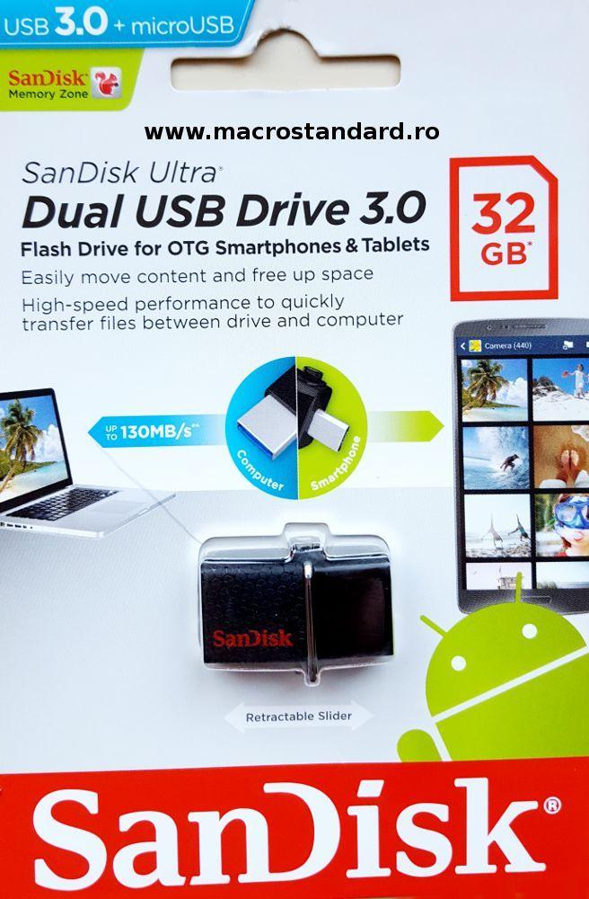 SanDisk Ultra Dual USB Drive 32GB 3.0