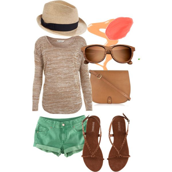 created by nicole-knippelberg on PolyvoreSummer Styles, Fashion, Summer 3, Casual Summer Outfits, Nicole'S Knippelberg, Cute Summer Outfits, Polyvore, Create, Green Shorts