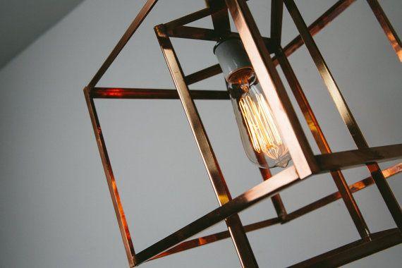 ... Kupfer hängen Anhänger Licht Kronleuchter mit Kupfer Decke Baldachin