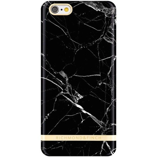 Black Carrara Marble iPhone 6/6s Case (FITS 6/6S IPHONE ONLY) ($53) ❤ liked on Polyvore featuring accessories and tech accessories