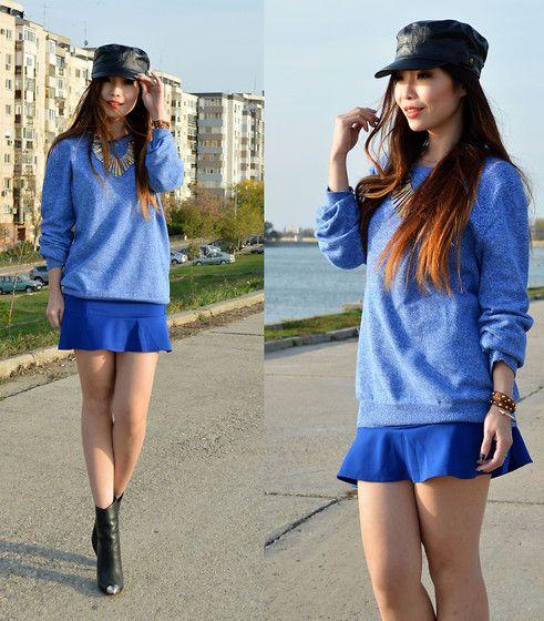 Albastru! Culoarea mea favorita! Sublima combinatie! <3  [Choies Skirt]
