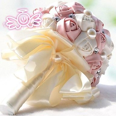 vintage silke rozen bloem meisje bruiloft bruids corsage boeket (meer kleuren) – EUR € 36.35