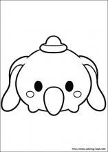 Tsum Tsum coloring pages on Coloring-Book.info