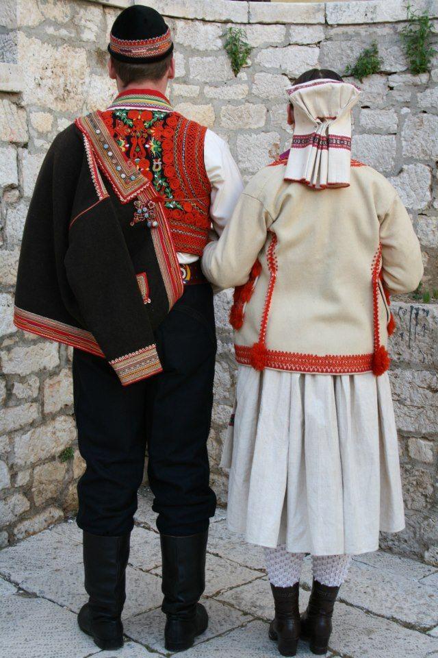 Šestine - Croatia, men's and women's winter costume