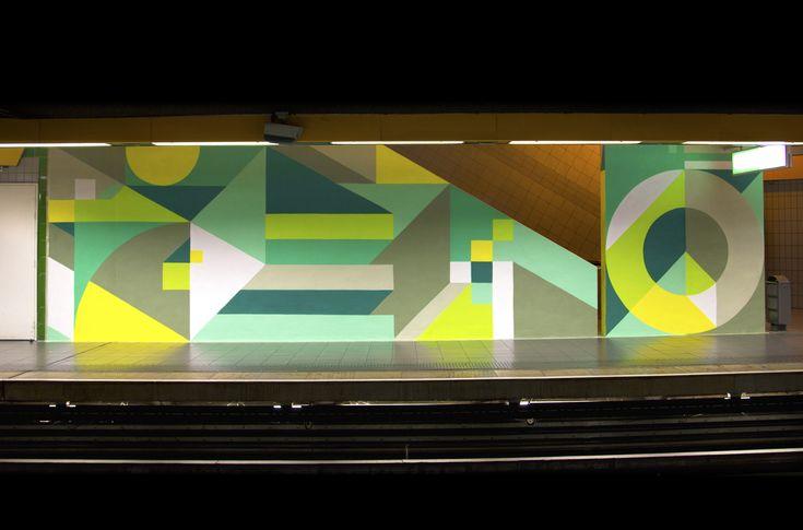 Metro Mermoz, Lyon, 2014