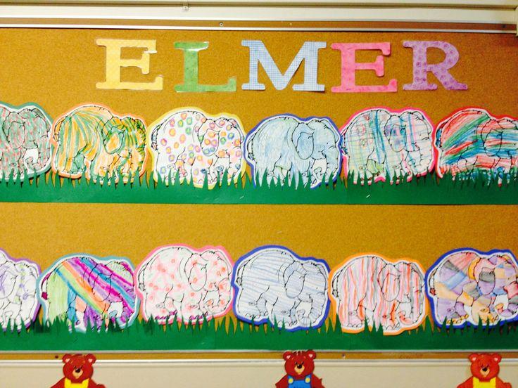 1st day lesson for K-1: Elmer the Elephant