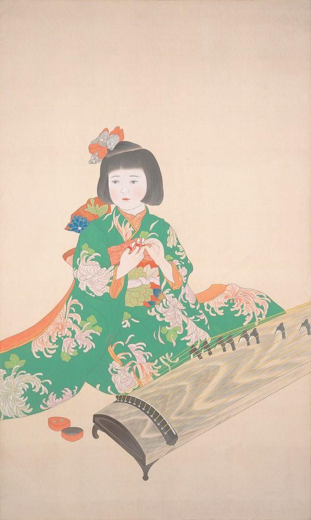 橋本明治《七五三》1928(昭和3)年島根県立美術館蔵