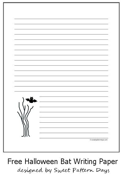 37 best Halloween Printables images on Pinterest Free printable - printable writing paper template