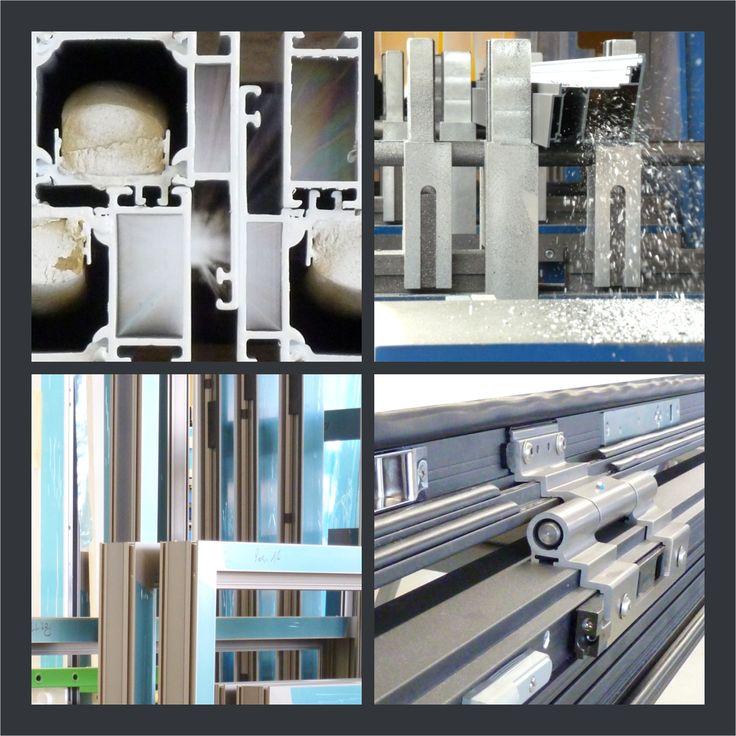 Maschinenästhetik - Fenster- und Türprofile im Detail in der Metallbau-Fertigung