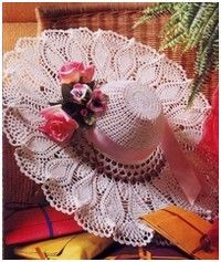 fanciest crochet site I've found!  (has nearly everything:  flowers, skirts, capes, scarves, vests, mittens, special holiday crocheted items, placemats, table runners, hats, shelf lace, bikinis, Barbie clothes...)  Incredible!!!!!
