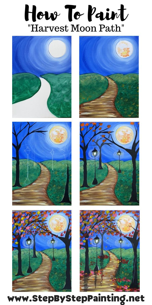 Fall Path Painting Step By With Tracie Kiernan Diy Canvas Art Projects