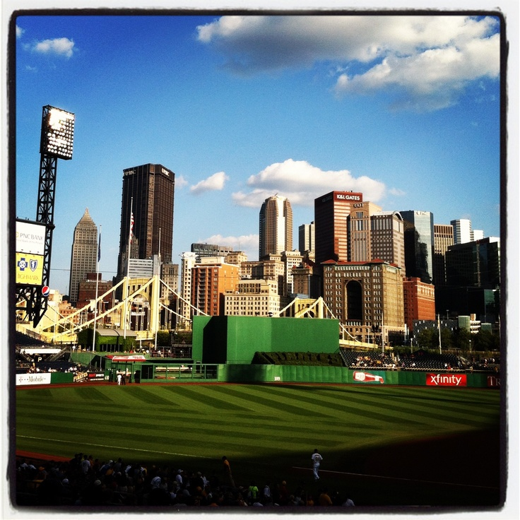 @Pittsburgh Pirates game vs. LA Dodgers last week. The Pittsburgh skyline sure looks good from PNC Park!