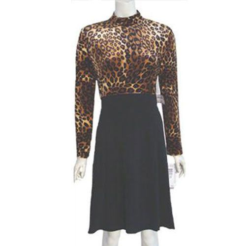1980s Animal Print Vintage Dress High Waist NWT Jessica Howard #JessicaHoward