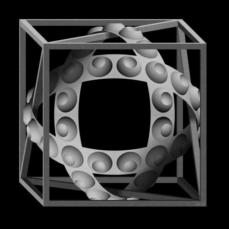 Cube with Magic Ribbons by eriban.deviantart.com on @deviantART