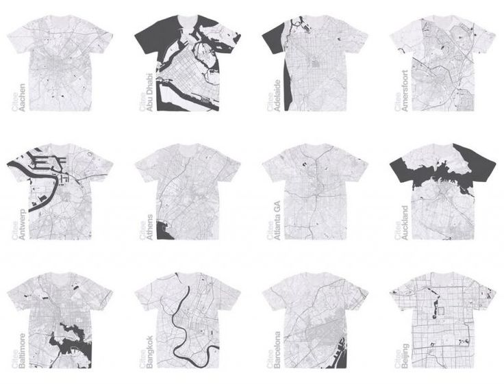 Citee Fashion, OSM Maps of Your Favorite City Made Fashionable