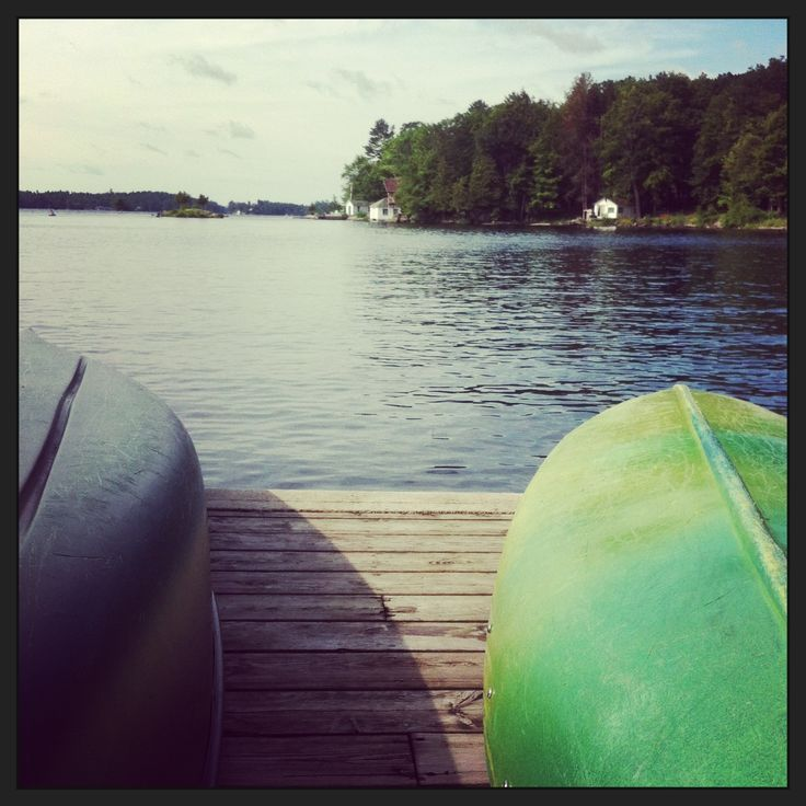 Ready for a canoe ride on Stoney Lake at Viamede resort.