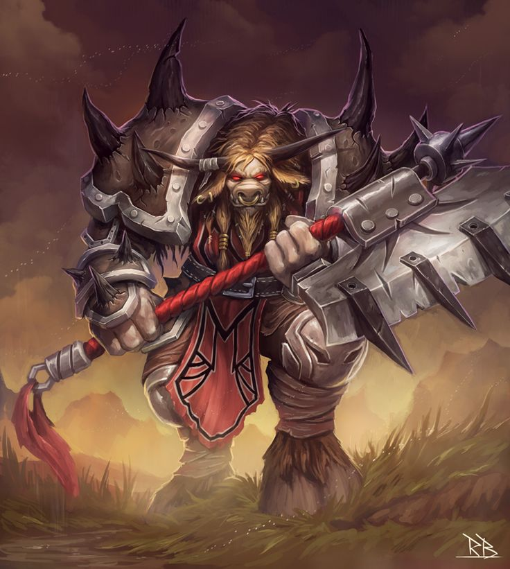 Tauren Warrior by on DeviantArt
