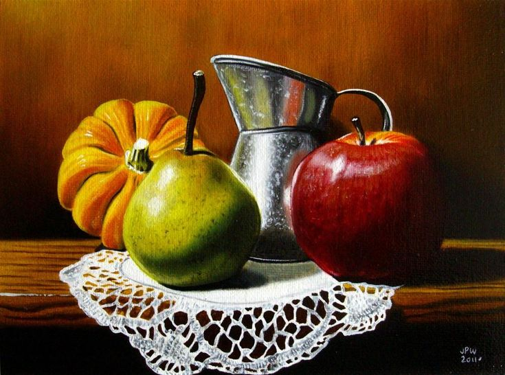 Realistic Bowl Drawing Fruit Art