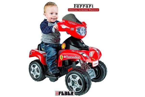 QUAD INFANTIL 6V FERRARI. FEBER 6762, IndalChess.com Tienda de juguetes online y juegos de jardin